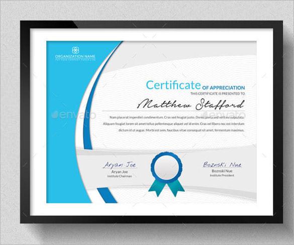 education certificates