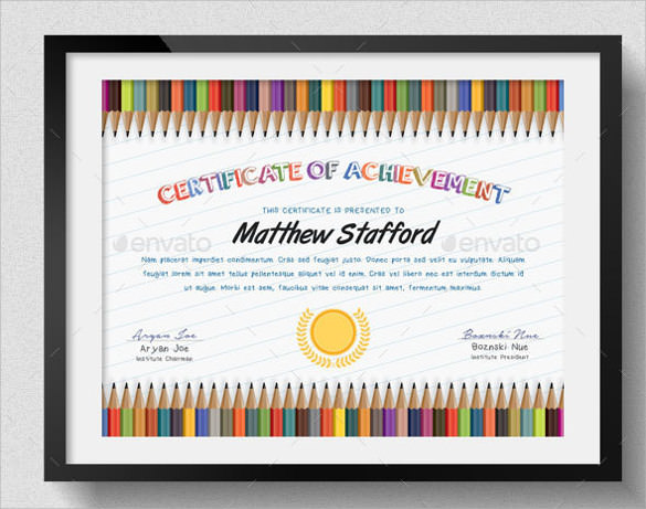 school certificate template design
