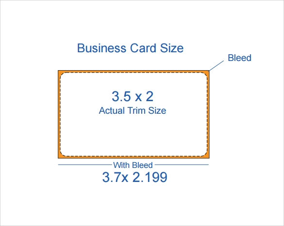 Business Card Template Format