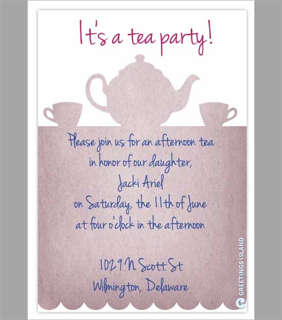 Party Invitation Template Download in PSD PDF – Tea Party Invitations Free Template