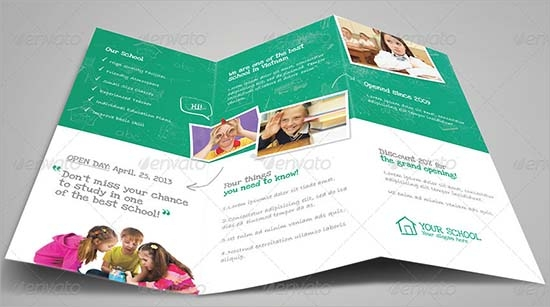 school newsletter template psd