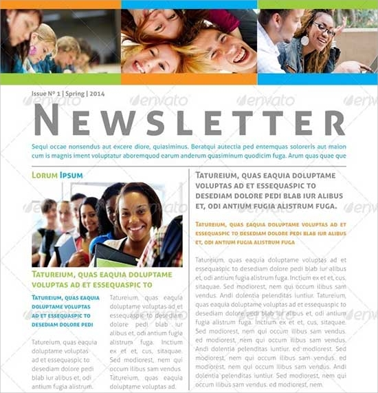 educational newsletter template