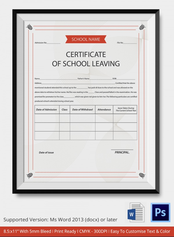 School Certificate Templates - 22+ Download Documents in ...