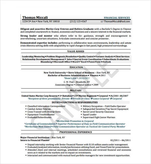 Sample Resume Template for Students in University - 9+ Free Documents ...