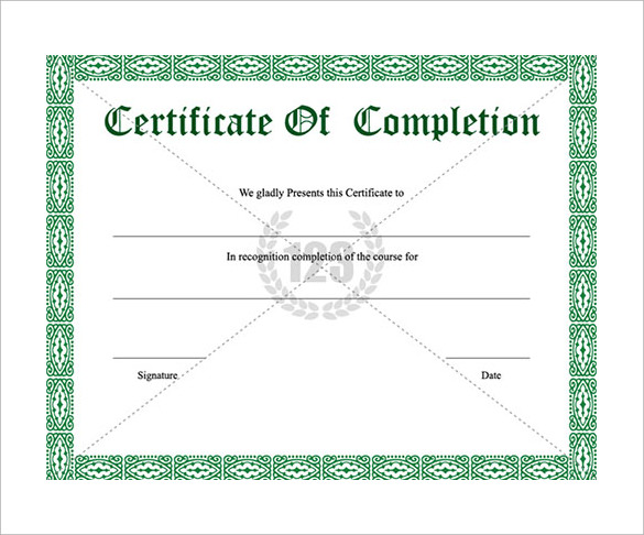 Sample certificate of completion template jpg certificate of school certificate templates download documents in psd pdf yadclub Choice Image