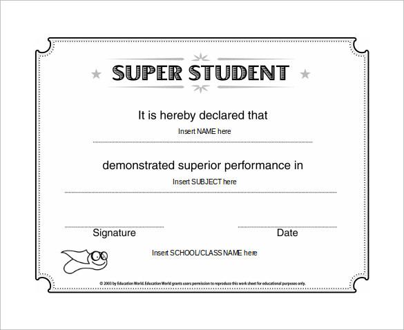 super student certificate1