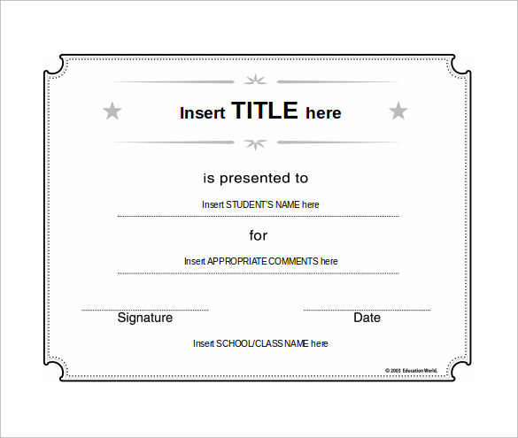 School certificate templates 31 download documents in psd pdf blank certificate template yelopaper Gallery