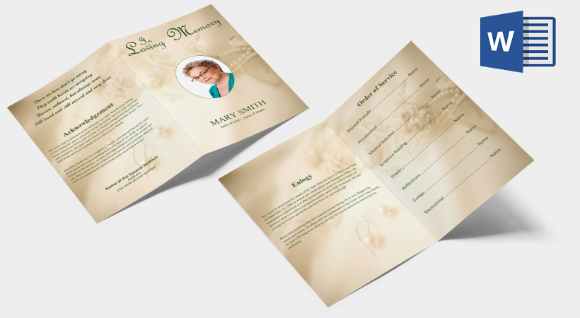 Free 46 Sample Funeral Programs Templates In Pdf Ms Word Psd