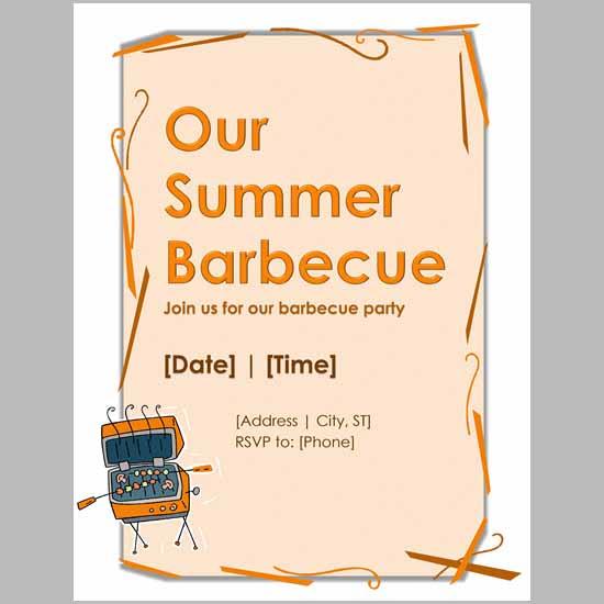 barbecue invitation template juve cenitdelacabrera co