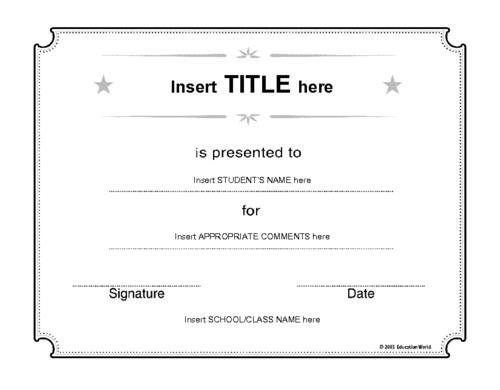 15 Best School Certificate Templates   Sample Templates
