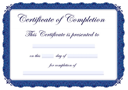 Free editable certificate templates completion yadclub Image collections