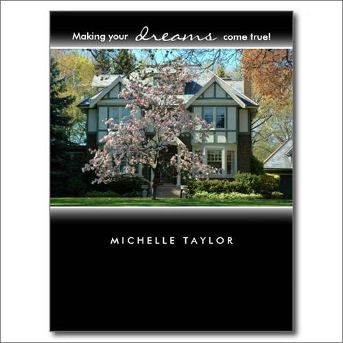 cherry blossom tree real estate house postcard1