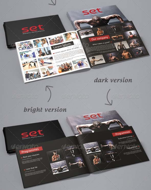 clean a5 brochure template
