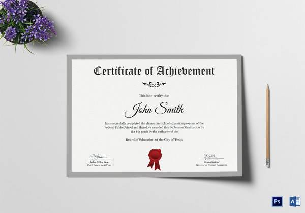 elementary school certificate template