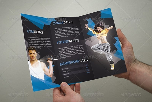 20 best gym brochure templates sample templates for Fitness brochure template