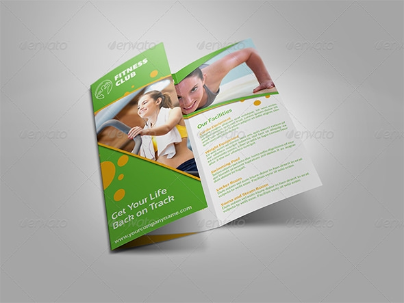 fitness gym brochure tri fold template