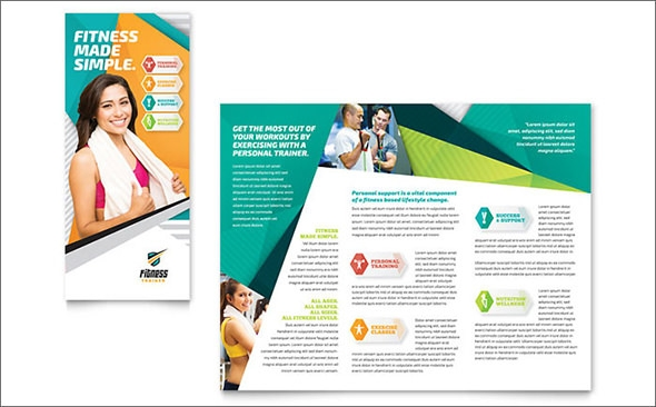 fitness trainer brochure template1