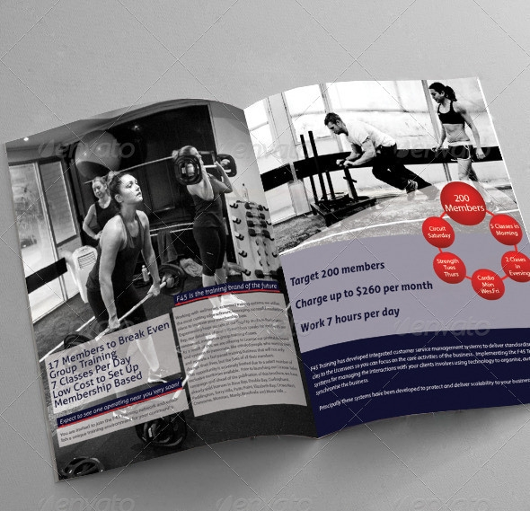 fitness training brochure