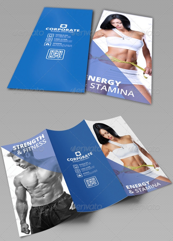 fitness and gym tri fold brochure