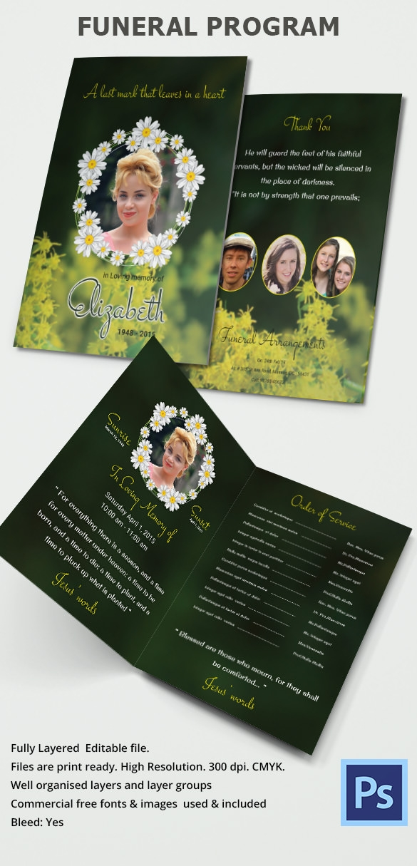 33 sample funeral programs templates sample templates for Program brochure templates