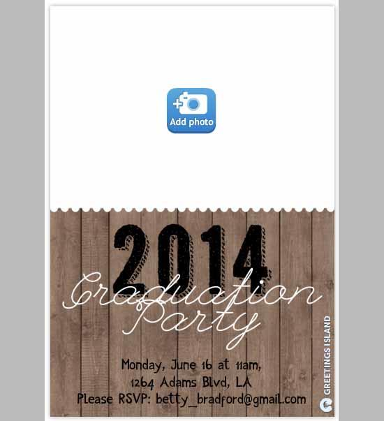 graduation party invitation templates free .
