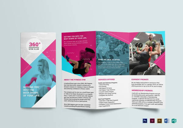 Best Gym Brochure Templates Download Documents In PSD - Brochure templates download