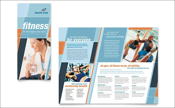 20 best gym brochure templates sample templates for Health pamphlet template