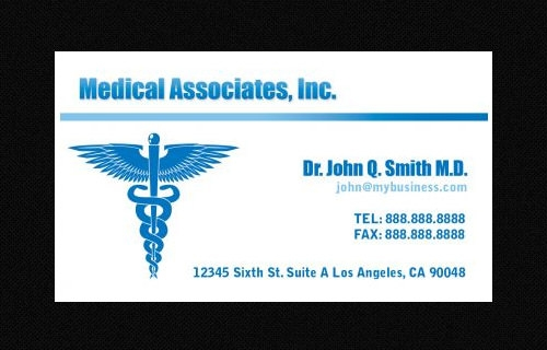 Awesome Business Card Template For Doctors  Sample Templates