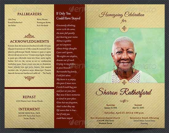 Sample Funeral Program Template 30 Download Free Documents in – Download Funeral Program Template