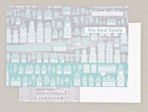 illustrative real estate postcard template