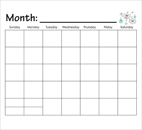 Calendar Templates For Kindergarten