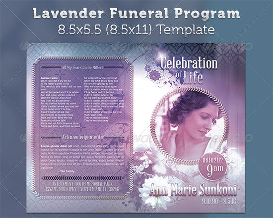 Memorial Program Templates Free 8 Free Funeral Program Templates – Download Funeral Program Template
