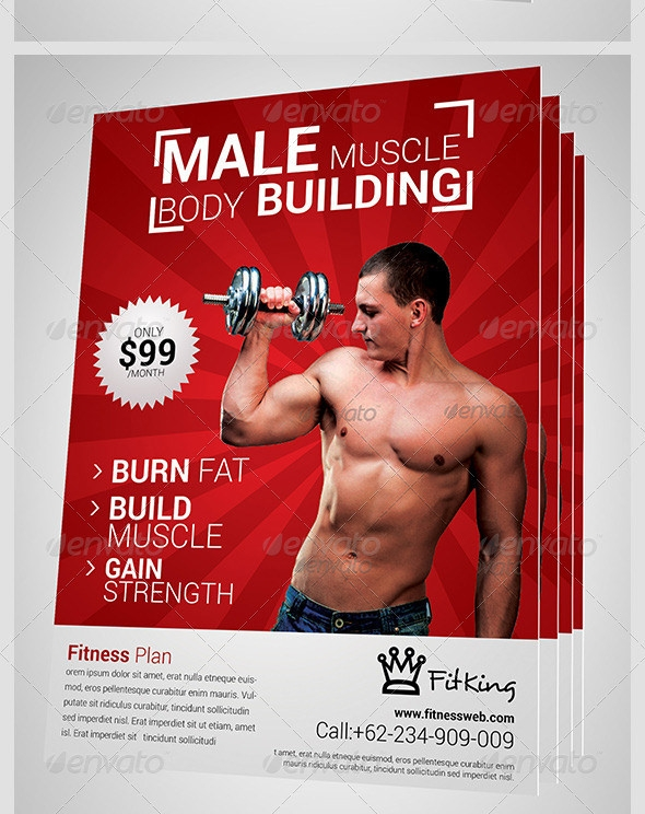 lifting weights brochure template12