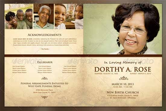 33 sample funeral programs templates sample templates for Funeral brochure templates free