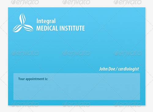 medical appointment cards template