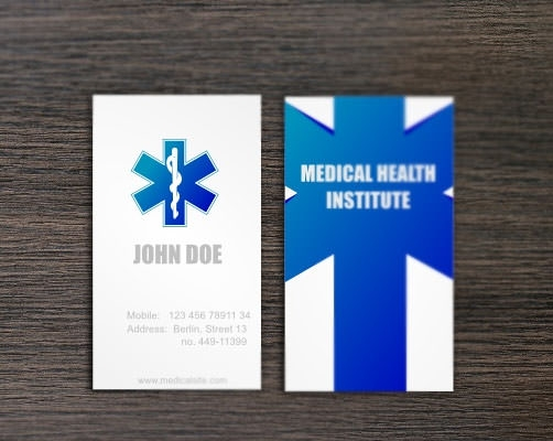 21 awesome business card template for doctors sample templates medical business card template accmission Choice Image