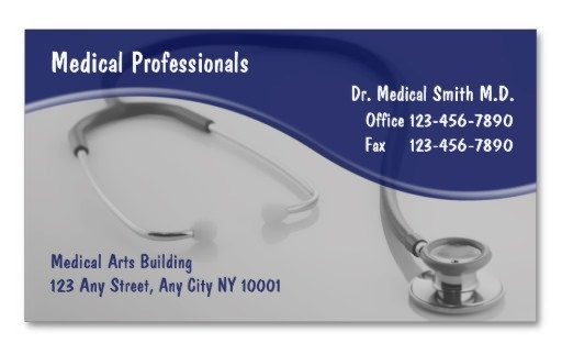 21 awesome business card template for doctors sample templates medical business card template cheaphphosting Image collections