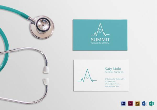 medical business card template2