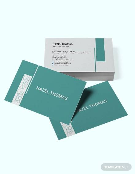 medical student business card