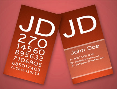 ophthalmologist business card template