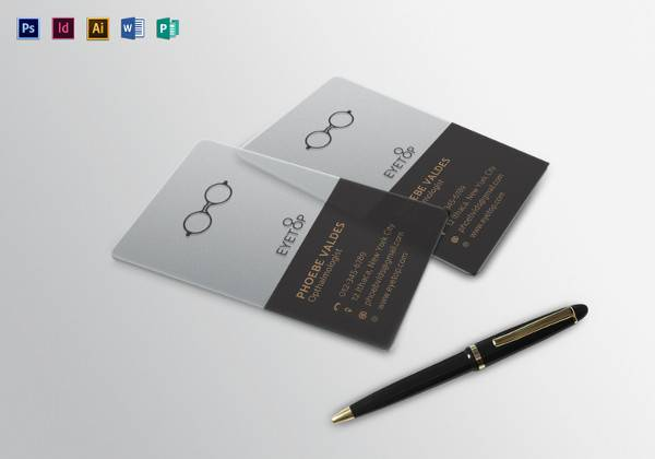 opthalmologist business card template