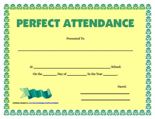 Perfect Attendance Certificate Template Search Results For Perfect Attendance Award Certificates Calendar 2015