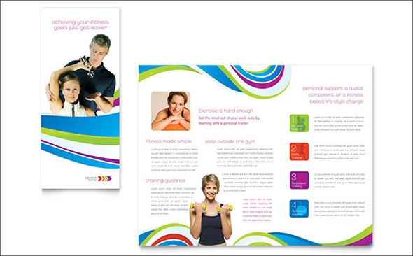 personal trainer brochure template