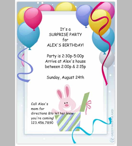 Creative Birthday Invitation Wording with good invitations design