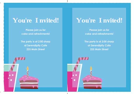 printable party invitations template