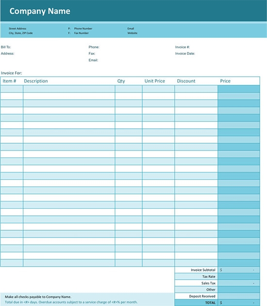 professional services invoice template word .
