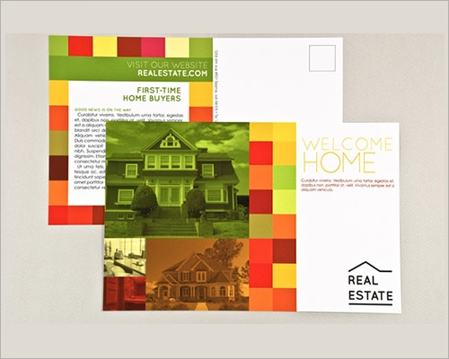 Sample Real Estate Marketing Postcard Templates