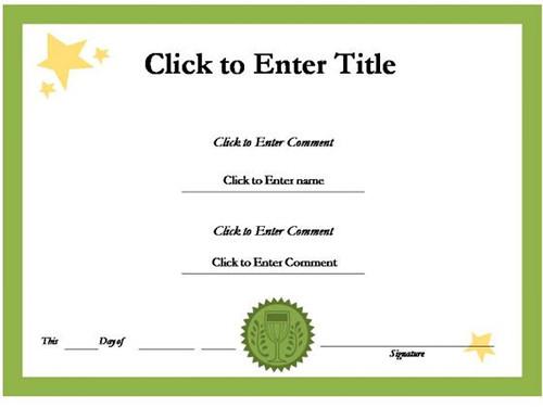 free powerpoint award certificate template .