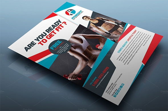 sport gym brochure template1