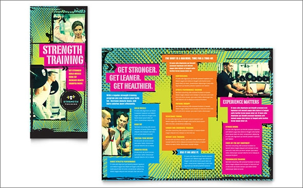 strength training tri fold brochure template1